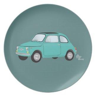 Fiat 500 Plate