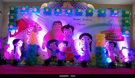Chota Bheem Themed Birthday Decoration at Kottakuppam