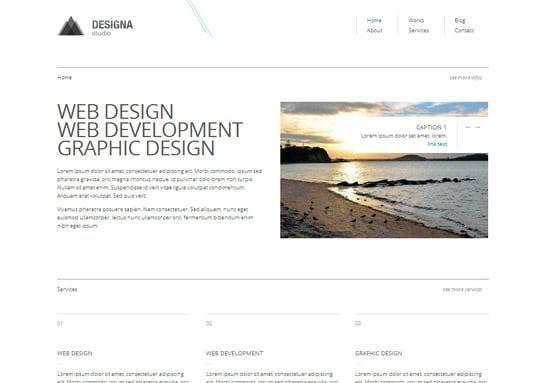 Designa CSS template free