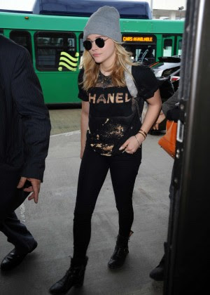 Chloe Moretz at LAX Airport -16