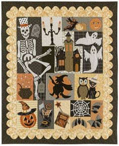 loving the Halloween quilt patterns... must do!