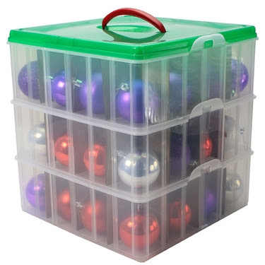 snapware christmas and holiday ornament storage box - Christmas Decoration Storage Containers