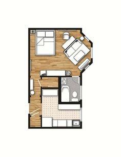 Studio Apartment Layout & Design Ideas on Pinterest | 60 Pins