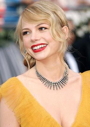 Lábios vermelhos como Marylin Monroe são cruciais para a criação de Hollywood estilo estrela