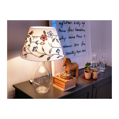 ALVINE PÄRLA Shade IKEA You can create a soft, cozy atmosphere in your home with a textile shade that spreads a diffused and decorative light.