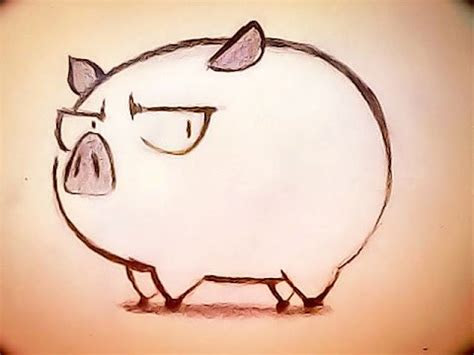 draw  cute pig  peace maker kurogane anime