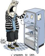 Embarras du choix avec un frigo vide.