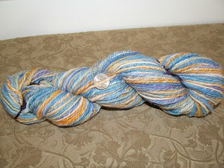 Lupines and Poppies handspun