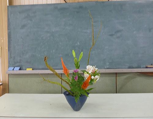 【盛花】セッカ柳、鉄砲百合、菊【2013_09_07】