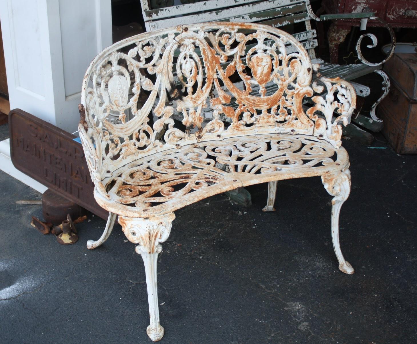 Super Ornate Cast Iron Garden Set For Sale | Antiques.com ...