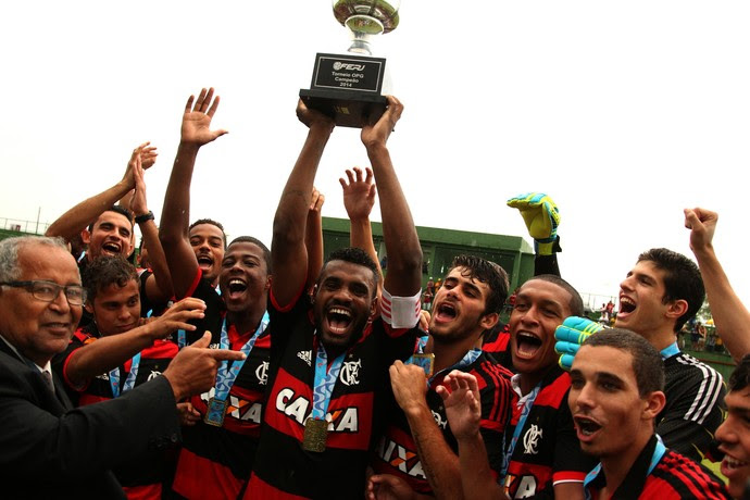 Flamengo campeão da OPG sobre o Botafogo (Foto: Gilvan de Souza/Fla Imagem)