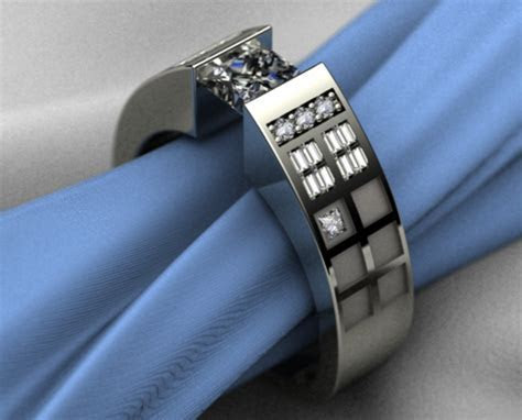 Dr. Who TARDIS Themed Engagement Ring   Geekologie