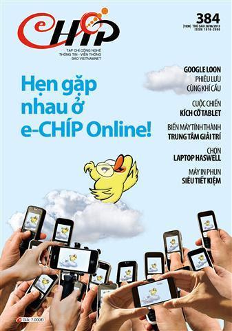 tạp chí, eChip, dừng xuất bản, đình bản, chia tay, lên mây, online,