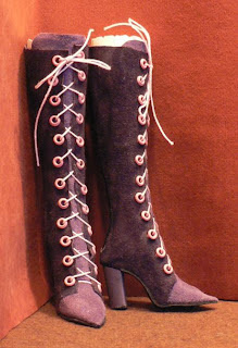 Finished boots for Tonner's American Model