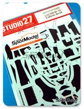 Patron de fibra de carbono en calca 1/12 Studio27 - Yamaha YZR-M1  - Campeonato del Mundo 2005 para kits de Tamiya