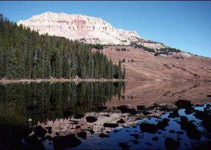 Beartooth Lake in Shoshoe National Forest