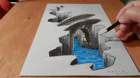 illustration drawing   bridge trick art youtube