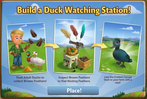 Duck Watching Station - FarmVille 2
