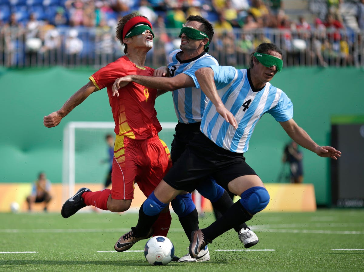 China and Argentina compete in the bronze-medal match in soccer.