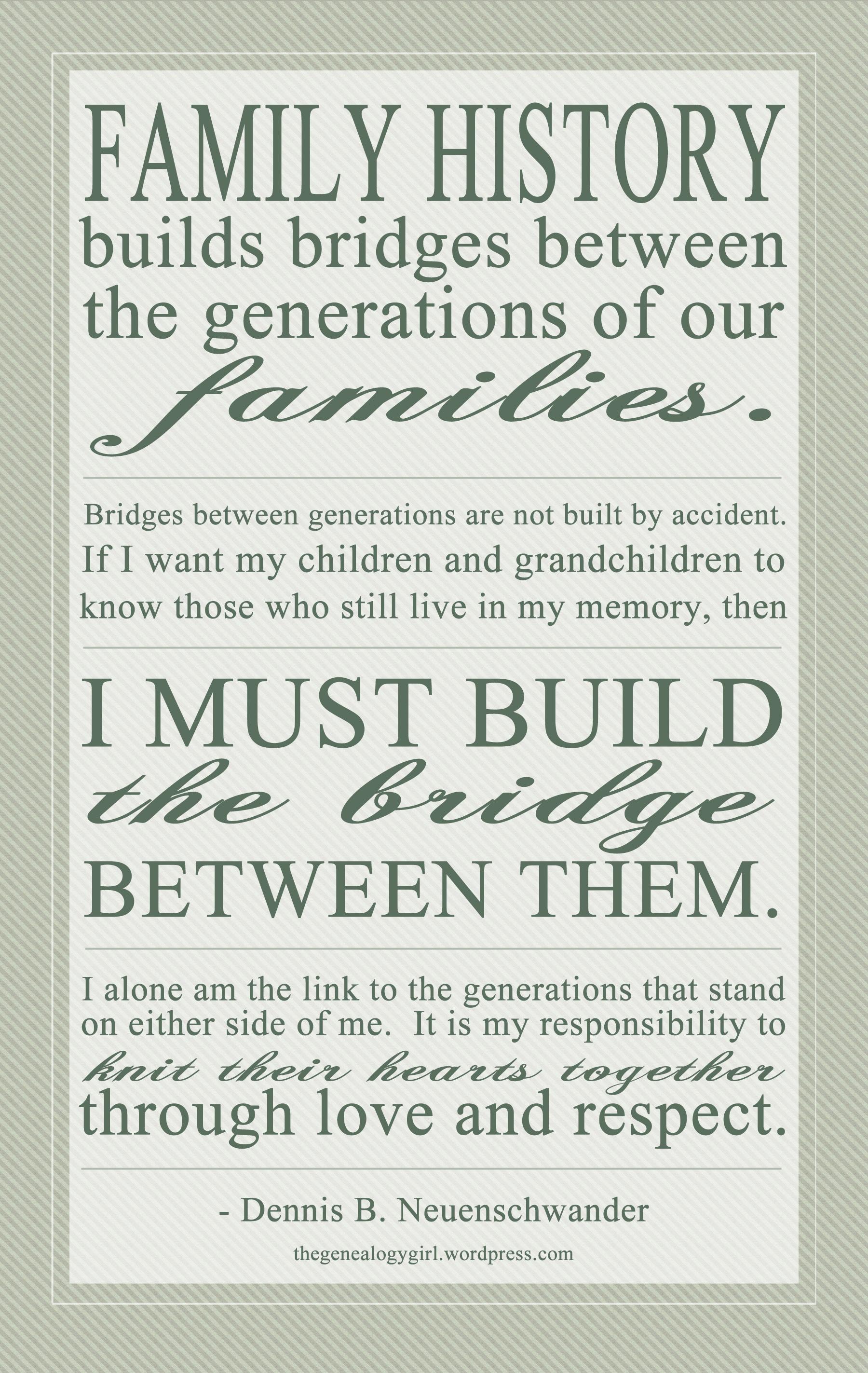Dennis B Neuenschwander Quote The Genealogy Girl