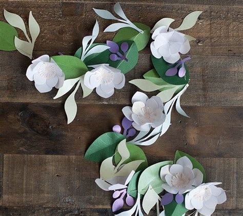 Spring Flower Garland made with images from the Four