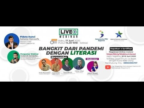"""Live Streaming Webinar """"Bangkit dari Pandemi dengan Literasi"""""""