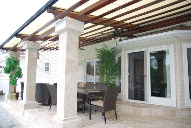 Cooler Deck Retractable Pergola Roof by Breslow Home Design ...