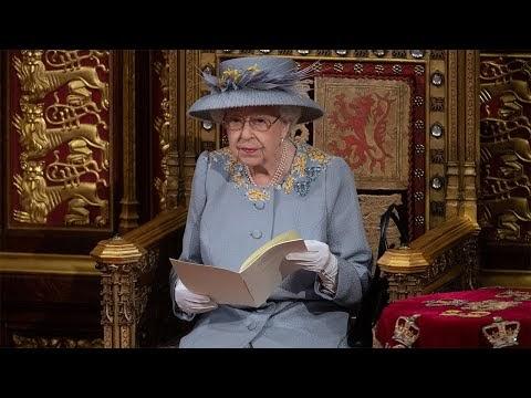 Queen Elizabeth II Opening Ceremoney UK Pairlement