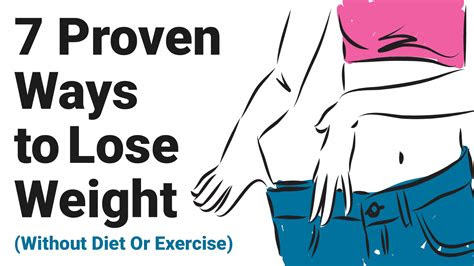 proven ways  lose weight  diet  exercise