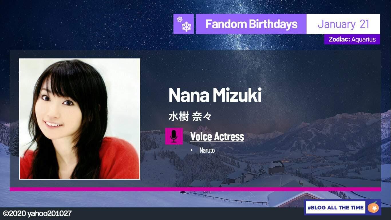 Happy Birthday Nana Mizuki 2020 Naruto Amino