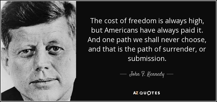 Image result for the price of freedom is high