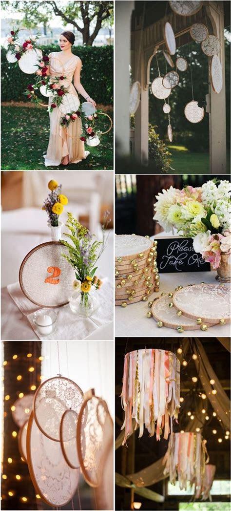 25 Unique Embroidery Hoops Boho Wedding Decor Ideas