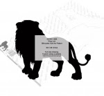 King Lion Silhouette Yard Art Woodworking Pattern - fee plans from WoodworkersWorkshop® Online Store - lions,animals,wildlife,african,savannah,yard art,painting wood crafts,scrollsawing patterns,drawings,plywood,plywoodworking plans,woodworkers projects,workshop blueprints