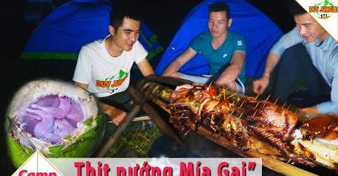 Cắm Trại Nấu Ăn Tập 1 | Hồ Trị An: thịt nướng cây Mía chi chít gai | Duy Junle