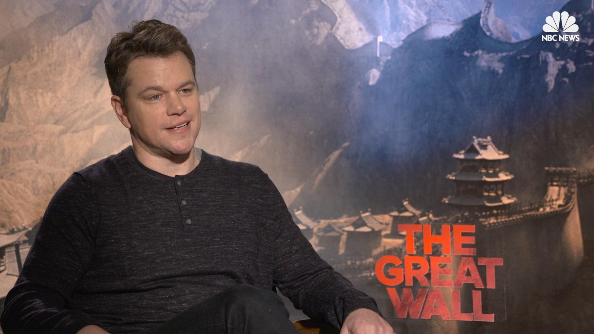 Matt Damon The Great Wall Is Bigger Than Anything I Ve Ever