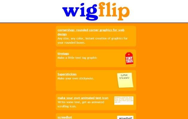Wigflip, una variada colección de utilidades online y gratuitas con las que crear gráficos para tu web