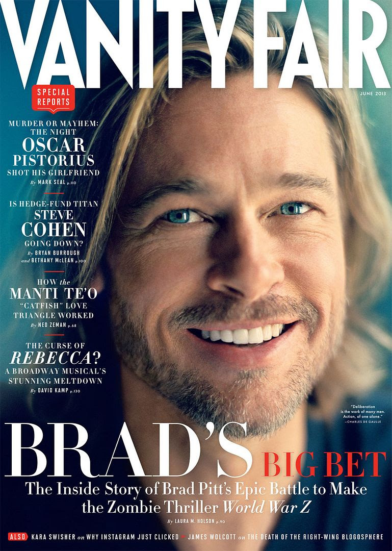 Brad Pitt : Vanity Fair (June 2013) photo brad-pitt-cover.jpg
