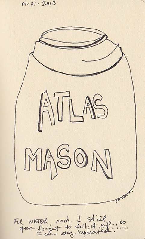 mason jar pen drawing