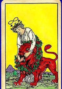 cartea de tarot Puterea