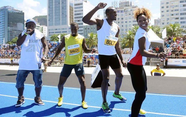 Usain bolt copacabana dançando (Foto: Alexandre Durão / Globoesporte.com)