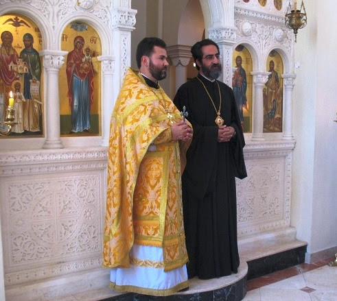His Eminence Archbishop Sergios addresses the congregation - Russian Service 25 January
