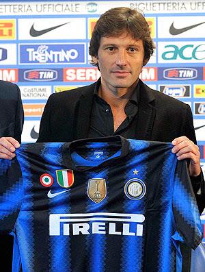 Leonardo durante apresentação no Inter de Milão