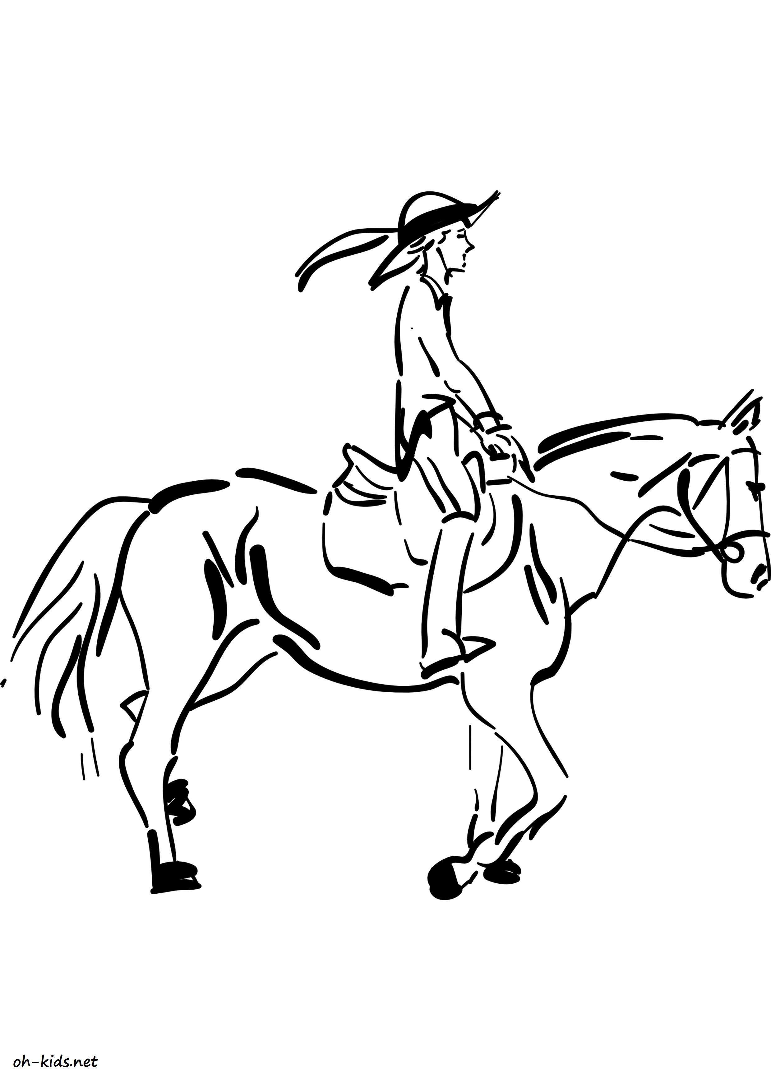 Dessin de équitation a imprimer Dessin 1368