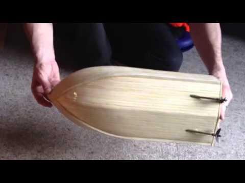 Balsa wood RC boat #1 close-up - YouTube