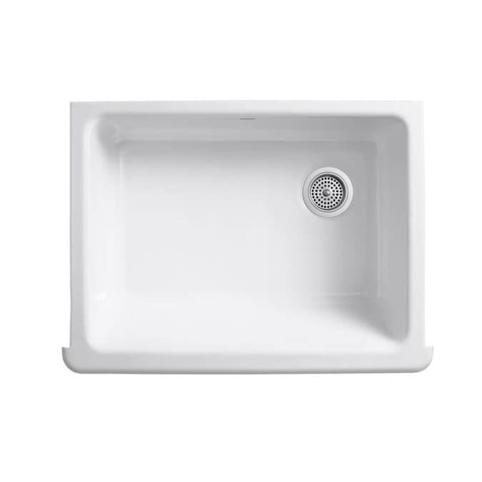 KOHLER Whitehaven 29.5-in x 21.5625-in White Single Bowl ...