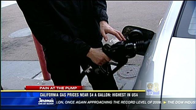 california gas prices 2011. California gas prices near $4