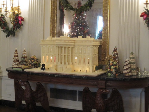Gingerbread White House Display