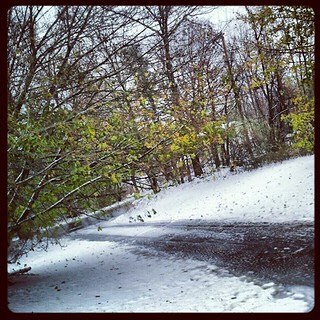 First #snow fall last night... Now #freezing #rain  #ugh #driveway #newhampshire
