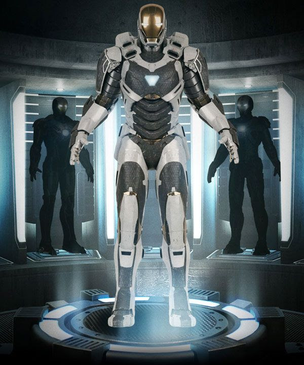 An IRON MAN 3 promo featuring the Deep Space Armor.