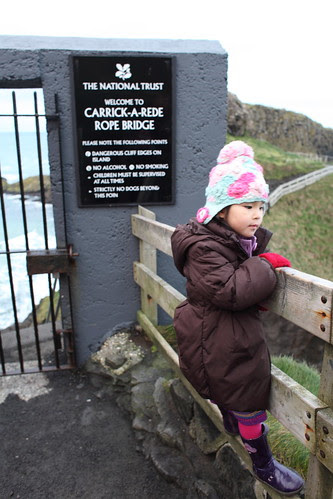 The Carrick-a-Rede Rope Bridge, Antrim Coast